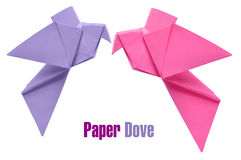 Palomas de Origami imagen de archivo