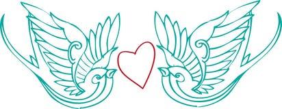 Palomas del amor Imagenes de archivo
