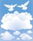 Palomas en el cielo Fotografía de archivo libre de regalías
