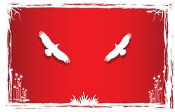 Palomas en naturaleza del arte Stock de ilustración