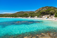 Palombaggia beach in Corsica Island, France Stock Photos