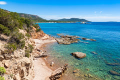 Palombaggia beach in Corsica Island, France Stock Photography