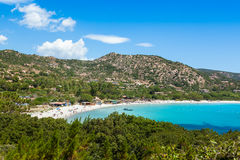 Palombaggia beach in Corsica Island in France Royalty Free Stock Photography