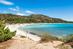 Palombaggia beach in Corsica Island in France Stock Photography