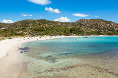 Palombaggia beach in Corsica Island in France Royalty Free Stock Image
