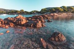 Palombaggia-Strand in Korsika, Frankreich Lizenzfreie Stockfotografie