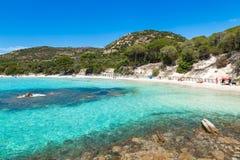 Palombaggia-Strand in Korsika-Insel in Frankreich stockfotografie