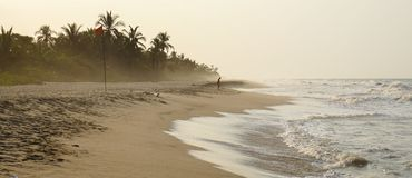 Palomino Beach in Colombia. Sandy beach with ocean Stock Photo