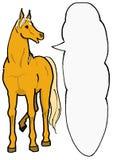 Palomino horse. A palomino-horse message card vector illustration