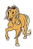 Palomino horse. Vector illustration of a cute cartoon palomino horse Stock Photography