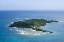 Palomino Island from the air Puerto Rico.  Stock Photography