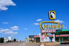 Palomino Motel on Historic Route 66. Stock Photos