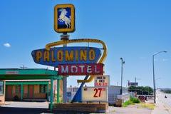 Palominomotel op Historisch Route 66 royalty-vrije stock foto