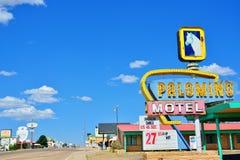 Palominomotel op Historisch Route 66 stock afbeeldingen