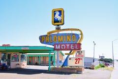 Palominomotel op Historisch Route 66 royalty-vrije stock afbeeldingen