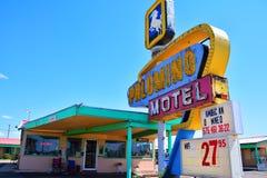 Palominomotel op Historisch Route 66 stock fotografie