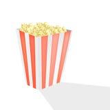 Palomitas de maíz en el cine Imágenes de archivo libres de regalías