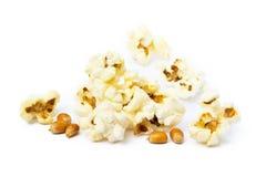 Palomitas del queso Imagen de archivo libre de regalías
