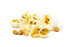 Palomitas del queso Imágenes de archivo libres de regalías