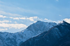 Palon, mount in winter, Trento, Northern Italy Royalty Free Stock Images
