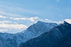 Palon, support en hiver, Trento, Italie nordique Images libres de droits