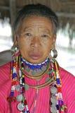 从Palong部落的老妇人,泰国 免版税库存照片
