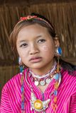 Palong Hill Tribe Woman, Northern Thailand. Young Woman from the Palong tribe with traditional Costume, Chiang Rai, Thailand, Asia royalty free stock images