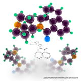 Palonosetron molecule structure Royalty Free Stock Photo