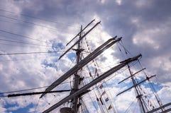 Palos altos de la nave Foto de archivo