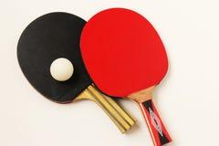 Palos de los tenis de mesa Imagen de archivo libre de regalías