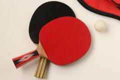 Palos de los tenis de mesa Imágenes de archivo libres de regalías