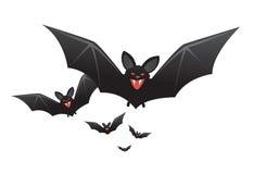 Palos de vampiro de Víspera de Todos los Santos con los colmillos ilustración del vector
