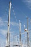 Palos del barco de vela Imagen de archivo