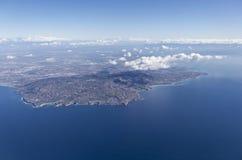 Palos Verdes Aerial Royalty-vrije Stock Afbeelding