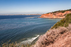 Palos Verdes Cliff. A Beautiful Mountain & Ocean View at Rancho Palos Verdes California Royalty Free Stock Image