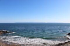 Palos Verdes Cliff Facing Catalina ö Kalifornien fotografering för bildbyråer