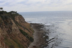 Palos Verdes Cliffs during June Gloom. Royalty Free Stock Images