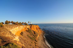 Palos Verdes lighthouse. On the California coast Stock Image