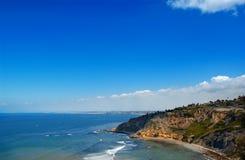 Palos verdes peninsula. Ca with manhattan, hermosa, redondo, beach in the background royalty free stock image
