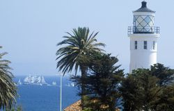 Palos Verdes Road Lighthouse på norr Long Beach, CA Royaltyfri Foto