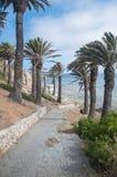 Palos Verdes seglar utmed kusten Arkivfoton