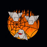 Palos y ejemplo del web de araña Imagenes de archivo