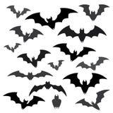 Palos y sistemas del icono de Halloween Imagen de archivo