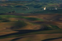 Palouse Вашингтон от Butte Steptoe Стоковые Изображения RF