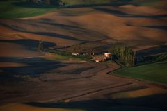 Palouse Вашингтон от Butte Steptoe Стоковые Фото