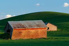 Palouse Barns (Close-up) Royalty Free Stock Photo