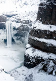 Palouse Falls Frozen Waterfall Washington State Royalty Free Stock Photography