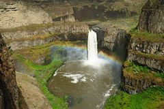Palouse falls and canyon Royalty Free Stock Images