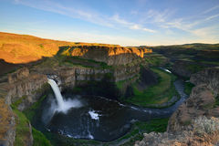 Palouse Falls at Sunset Royalty Free Stock Photos