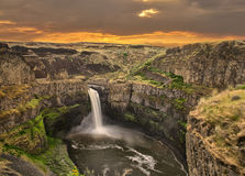 Palouse Falls WA at Sunrise Stock Photo